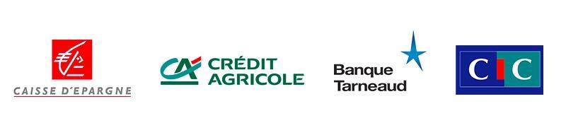 Logos des partenaires bancaires TANDEM